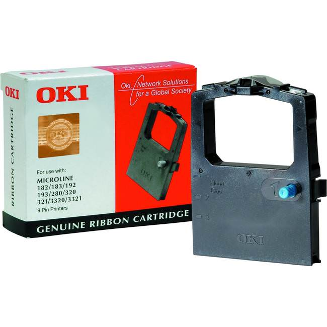 Original Oki 9002303 Black Microline Fabric Cassette (ok09002303)