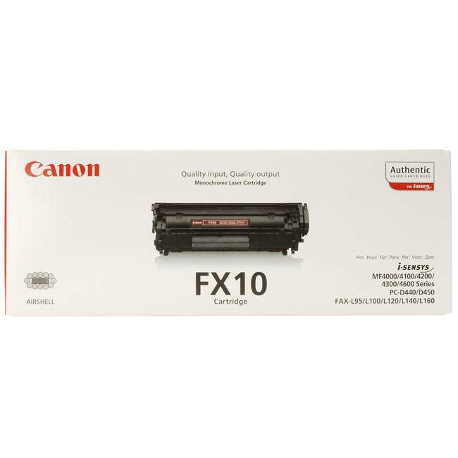 Original Canon Fx10 Black Toner Cartridge (0263b002aa)