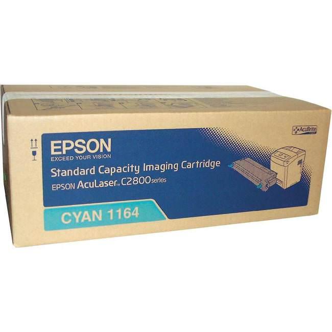 Original Epson S051164 Cyan Toner Cartridges (c13s051164)