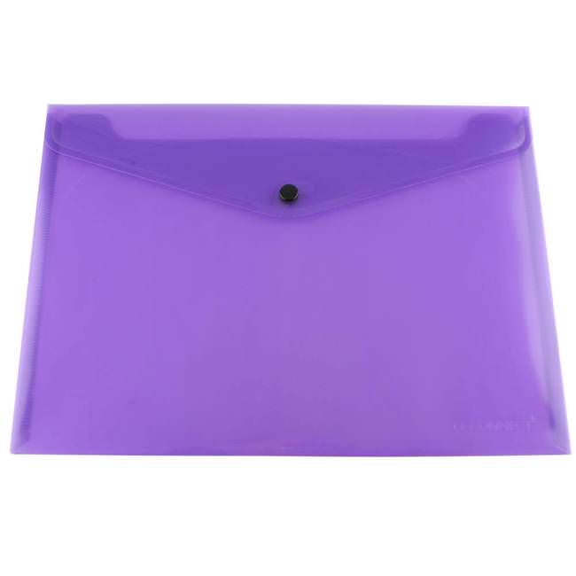 Q Connect Kf03598 Document Folder Purple 12 Pack