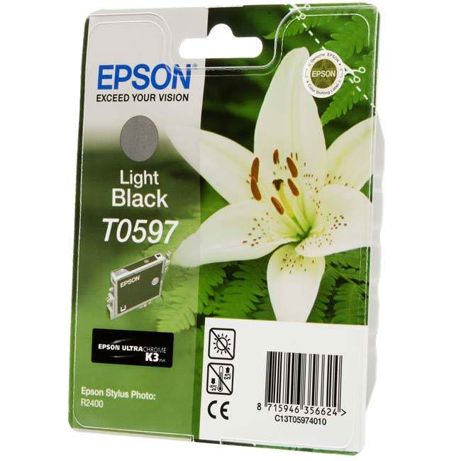 Original Epson T0597 Light Black Ink Cartridge (c13t05974010)