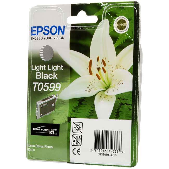 Original Epson T0599 Light Light Black Ink Cartridge (c13t05994010)