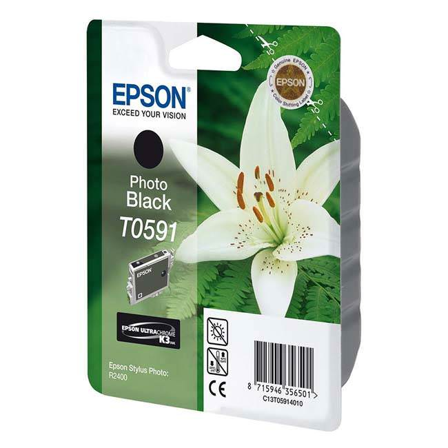 Original Epson T0591 Photo Black Ink Cartridge (c13t05914010)