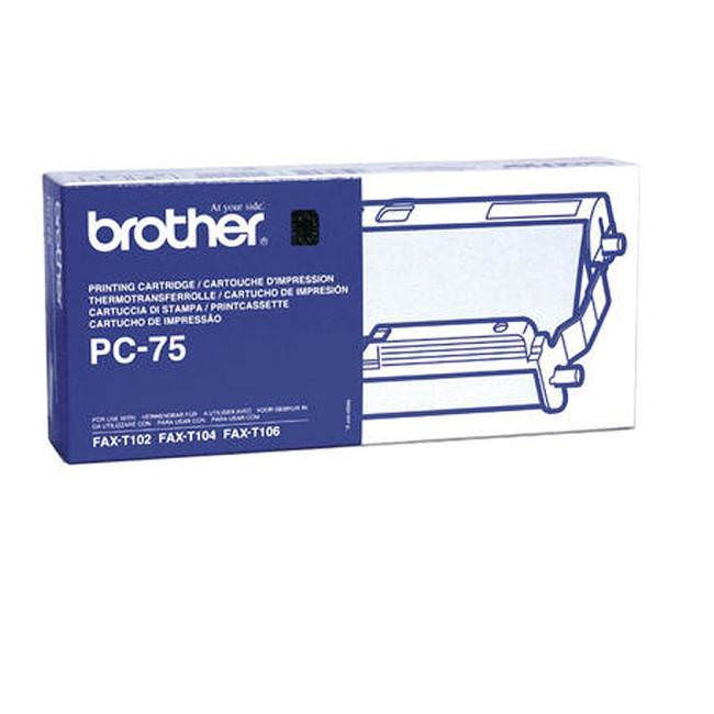 Original Brother Pc75 Black Printer Ribbon Cassette (pc-75)