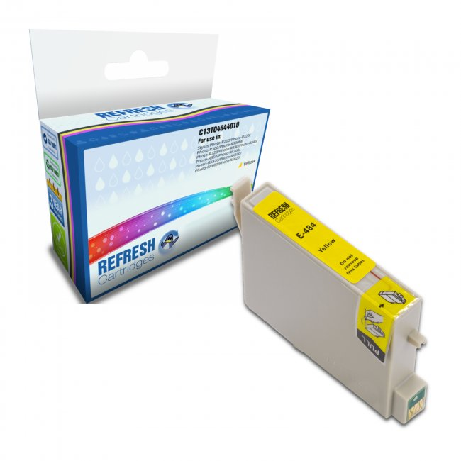 Remanufactured Epson T0484 Yellow Ink Cartridges (c13t04844010)