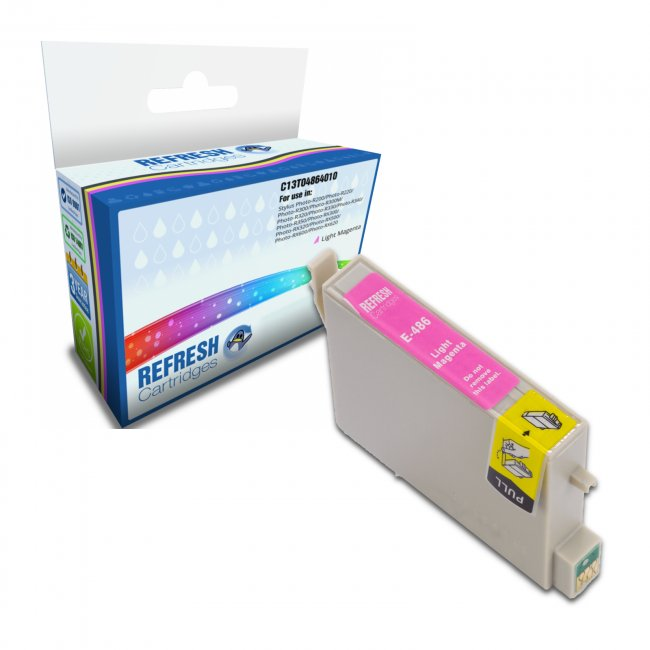 Remanufactured Epson T0486 Light Magenta Ink Cartridges (c13t04864010)