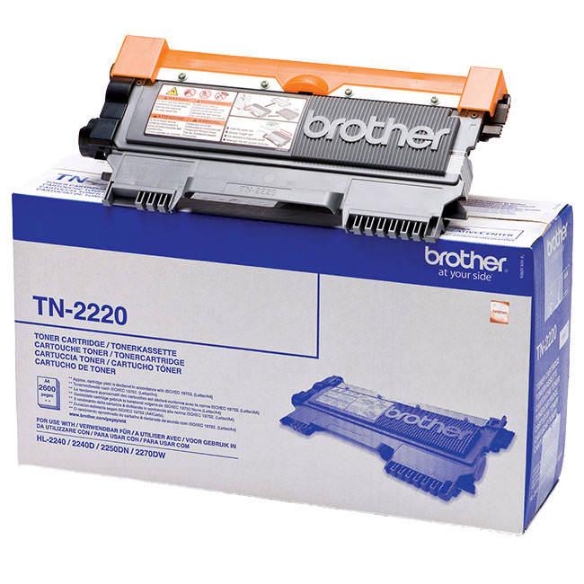 Original Brother Tn2220 High Capacity Black Toner Cartridge (tn-2220)
