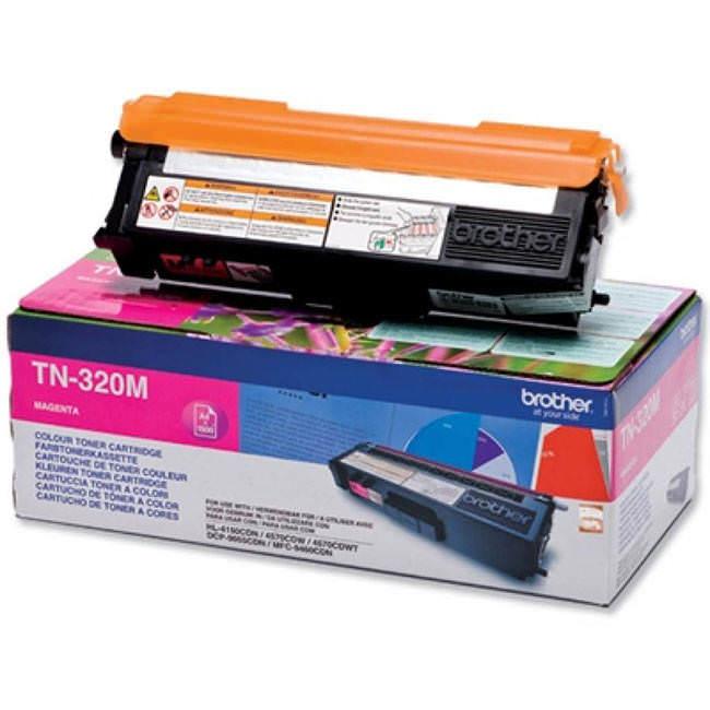 Original Brother Tn-320m Magenta Toner Cartridge (tn320m)