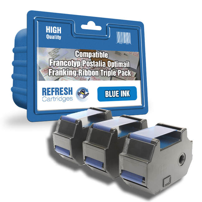 Compatible Francotyp Postalia Optimail 30 Blue Franking Machine Ribbon Multipack (58.0034.3071.00)