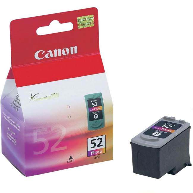 Original Canon Cl-52 Photo Ink Cartridge (0619b001)