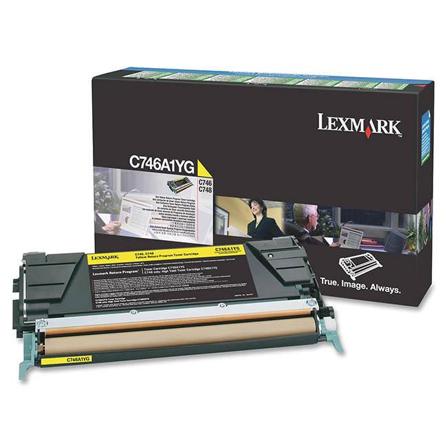 Original Lexmark C746a1yg Return Program Yellow Toner Cartridge (0c746a1yg)