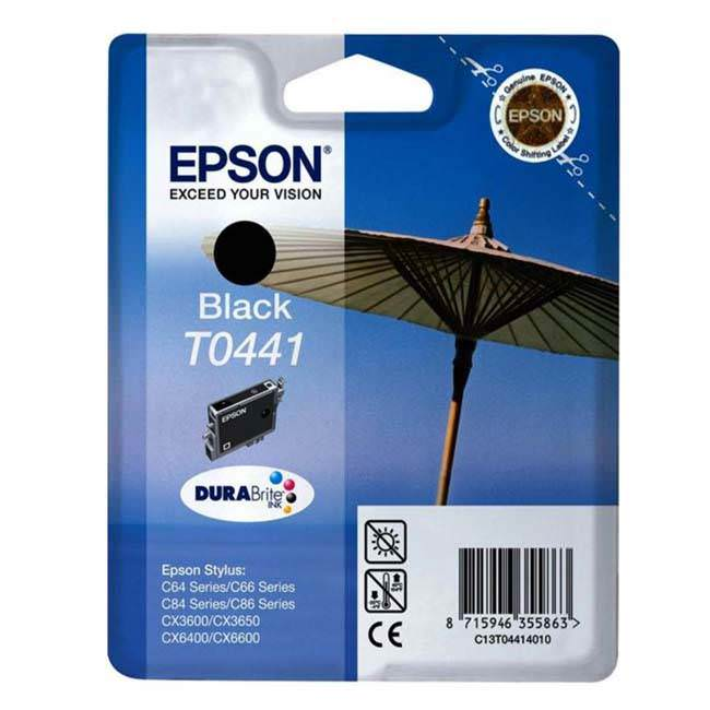 Original Epson T0441 Black Ink Cartridge (c13t04414010)