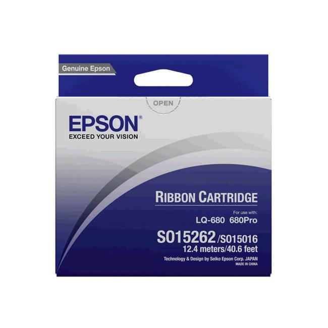 Original Epson S015262 Black Ink Ribbon Cartridge (c13s015262)