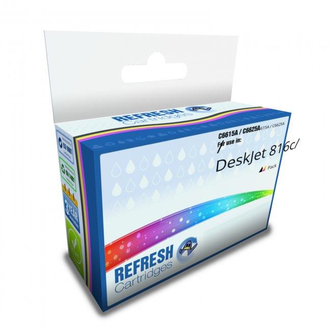 4 C6615A 15 Black Printer REMAN Ink Cartridge for HP Deskjet 840