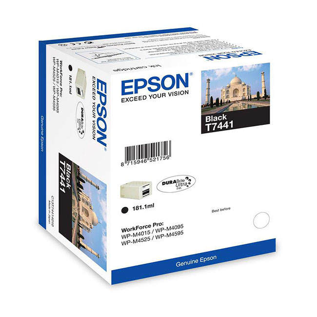 Original Epson T7441 Ultra High Capacity Black Ink Cartridge (c13t74414010)