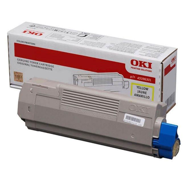 Original Oki 45396301 Yellow Toner Cartridge (45396301)
