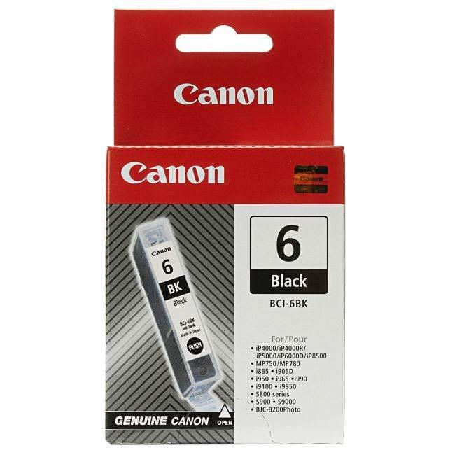 Original Canon Bci-6bk Black Ink Cartridges (4705a002)