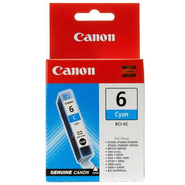 Original Canon Bci-6c Cyan Ink Cartridge (4706a002)