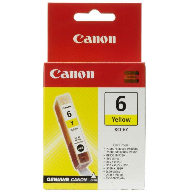 Original Canon Bci-6y Yellow Ink Cartridge (4708a002)