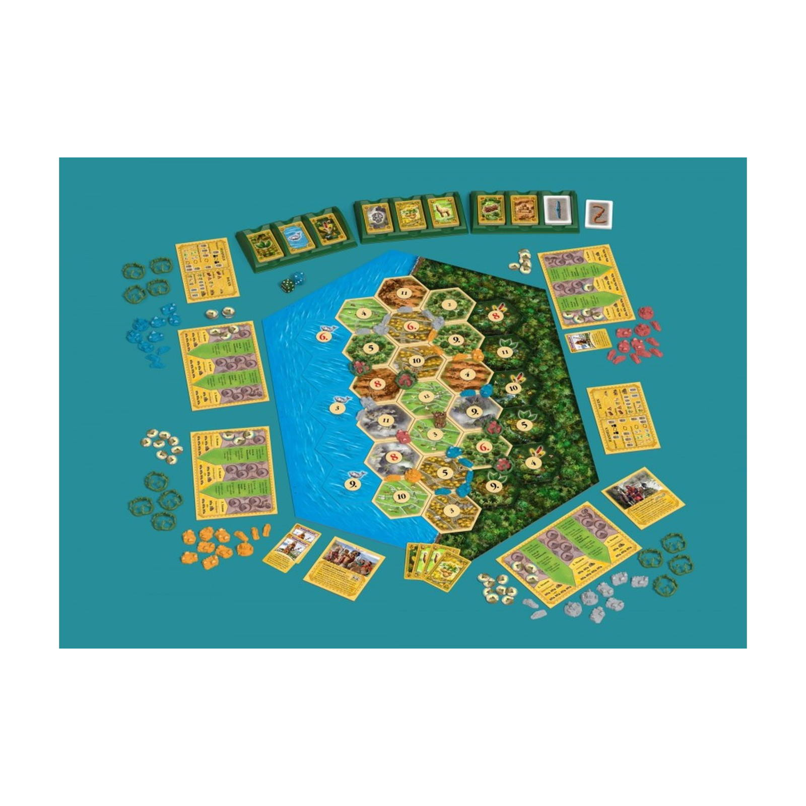 Catan-Histories-Rise-Of-The-Inkas-Settle-The-Ande-da-Klaus-And-Benjamin-Teuber miniatura 2