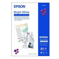 Original Epson A4 Bright White Uncoated Inkjet Paper 90gsm 500 Sheets (C13S041749) Image