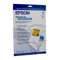 Original Epson Cool Peel Iron-On Transfer Paper 124gsm - 10 Sheets (C13S041154) Image
