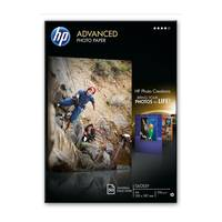 Original HP A4 Advanced Inkjet Glossy Photo Paper 250gsm - 50 Sheets (Q8698A) Image