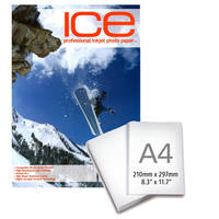 Ice Glossy Coated A4 Self Adhesive Inkjet Photo Paper 130gsm - 25 Sheets Image