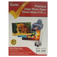 Inkrite Professional Glossy A4 Inkjet Photo Paper 210gsm - 20 Sheets Image