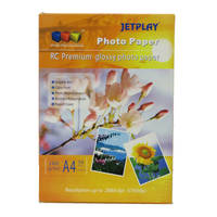 Jetplay Resin Coated A4 Premium Glossy Photo Paper 260gsm - 50 Sheets Image