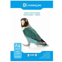 Mirror High Glossy A4 Inkjet Photo Paper 190gsm - 50 Sheets Image