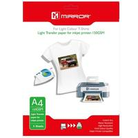 Mirror Iron On A4 T-Shirt Transfer Paper for Light T-Shirts 150gsm - 5 Sheets Image