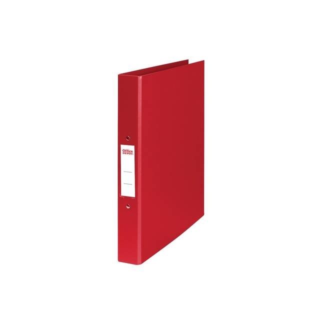 Office Depot 2 Ring A4 Plastic Ring Binder Red