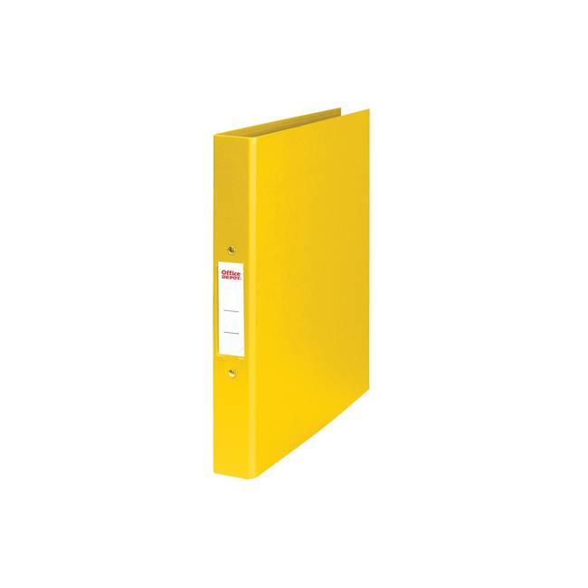 Office Depot 2 Ring A4 Plastic Ring Binder Yellow