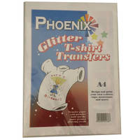 Phoenix Glittery Iron On A4 T-Shirt Transfer Paper for Light T-Shirts - 10 Sheets Image