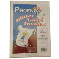 Phoenix Glittery Iron On A4 T-Shirt Transfer Paper for Light T-Shirts -  5 Sheets Image