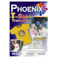 Phoenix Iron On A4 T-Shirt Transfer Paper for Light T-Shirts - 5 Sheets Image