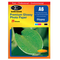Sumvision Glossy A6 Inkjet Photo Paper 260gsm - 25 Sheets Image